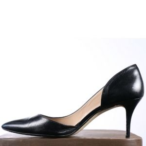 14 & Union BLACK LEATHER POINTY TOE PUMPS